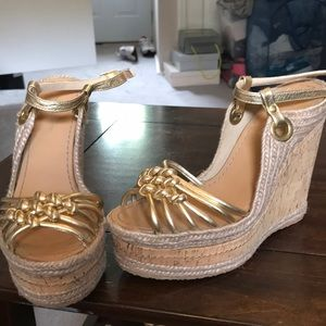 H by Halston Gold Wedges